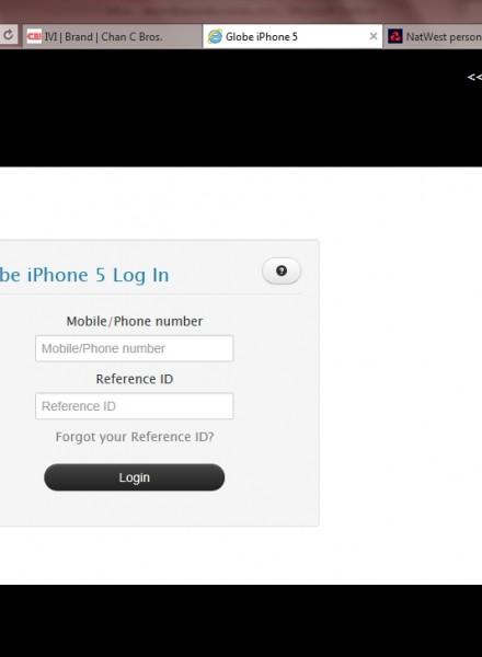 Globe Telecom iPhone 5 registration website